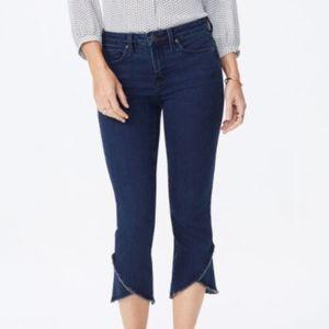 jeans NYDJ capri high rise frayed hem